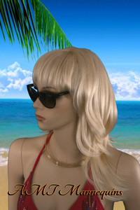Wig 244: Whitish Blond - mid-chest length