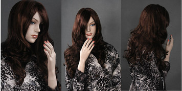 Wig 601: Chestnut Brown - mid-back or bra-strap length
