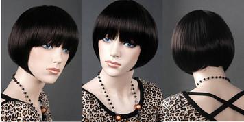 Wig 633: Deepest Brunette - chin level