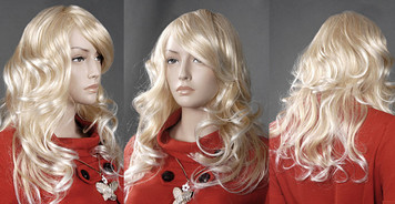 Wig 008: Yellow Blond - mid-back or bra strap length