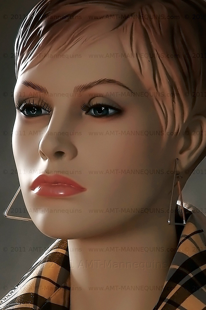 In this side view closeup of mannequin Sophia 7ab2670f7