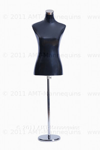 Dress Form Torso Black - Female (metal base)