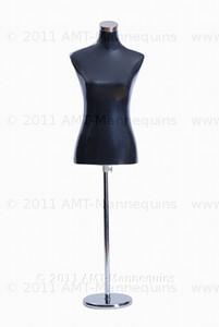 Dress Form Torso Black - Female (metal base)