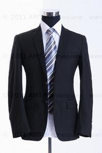 Dress Form Torso Black - Male (wood base)