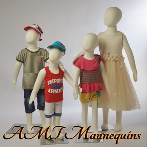 Mannequin Child Standing Flexible Unisex (Set of 4)