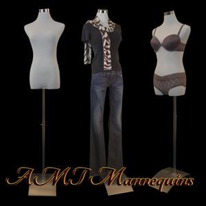 Dress Form Torso White With Hips - Female (metal base)