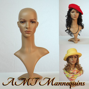 Mannequin Female Display Head Only (Plastic)