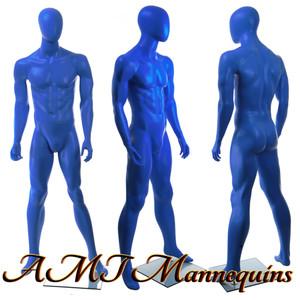 Mannequin Male Standing Model Matt - Blue Egghead
