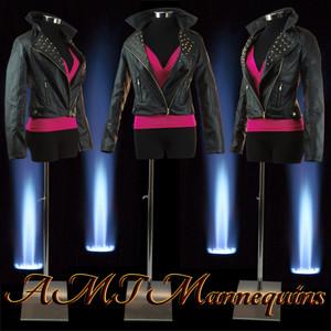 Dress Form Torso Black With Hips (F-H-98) - Female (metal base)