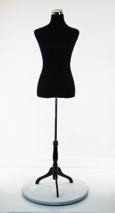 Dress Form Torso Black (MH-PH-88) - Female (wood base)