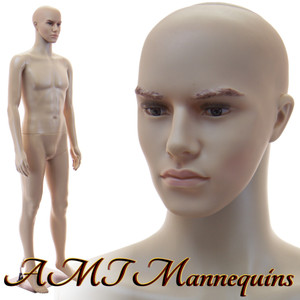 Mannequin Male Standing Model Al (with head) (Plastic)