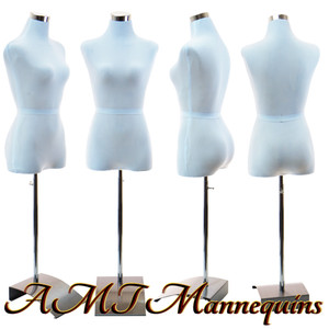 Dress Form Torso White With Hips (F-B+H-58) - Female (metal base)