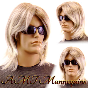 Wig K-11-AB Ash Blond with Black Highlights
