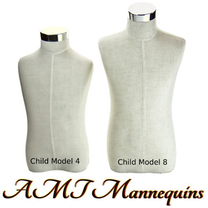 Dress Form Torso Linen With Hips (M-B+H-8) - Child Unisex (metal base)