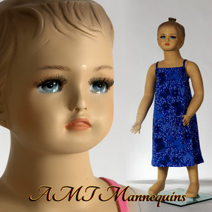 Mannequin Female Standing Child Model Cat