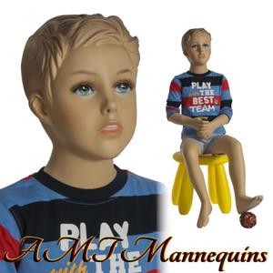 Mannequin Male Sitting Child Model Don