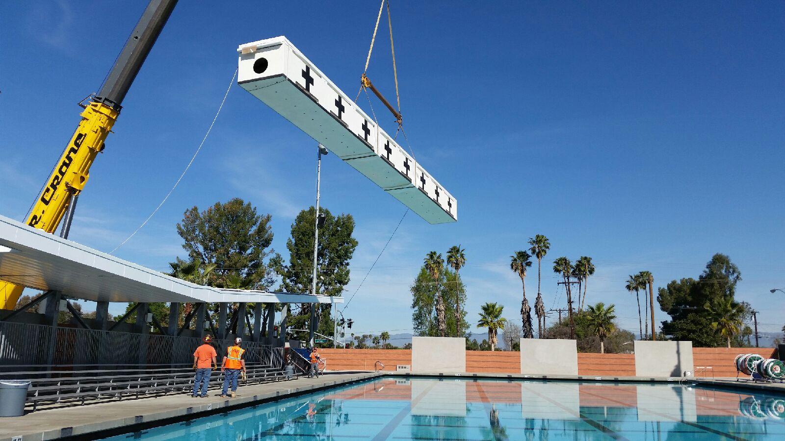 Universal Studios Stark Filter Tank Installation