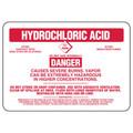 Hydrochloric Acid Antidote Sign, Stick-On-Vinyl (Muratic Acid)