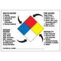NFPA 3-0-1 Pre-Printed Diamond Sign, Vinyl Stick-On