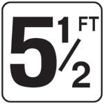 """Inlays 5 1/2 With FT 6 X 6 Tile 4"""" Lettering Vinyl StickOn Deck- V620055 (Skid Resistant)"""