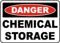 Danger - Chemical Storage Aluminum Sign