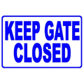 Keep Gate Closed Sign SW-7