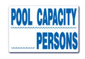 Pool Capacity Sign SW-15