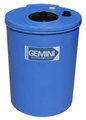 Peabody Gemini Dual Containment-Cylindrical 40GAL/151L- Blue (01-29436)