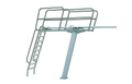 "KDI Paragon Paraflyte Diving Tower 3 Meter Flange Pedestal- Topflyte Grade 16"" Maxiflex -12025"