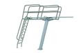 "KDI Paragon Paraflyte Diving Tower 3 Meter Flange Pedestal- Topflyte Grade 14"" Paraflex -12027"