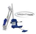Aqua Creek Mighty ADA Lift 400LB Capacity, no Anchor, White w/Blue Seat - F-MTY400