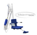 Aqua Creek Mighty ADA Lift 600LB Capacity, no Anchor, White w/Blue Seat - F-MTY600