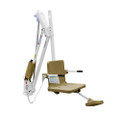 Aqua Creek Mighty ADA Lift 600LB Capacity, no Anchor, White w/Tan Seat - F-MTY600-T