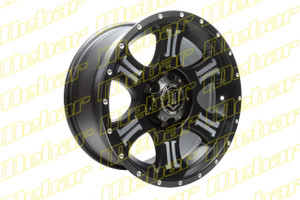 Icon Alloys - Shield - Black with Machine Finish