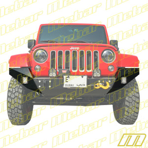 Mebar Jeep JK Ultra-Lite Shorty Bumper Full-Width Conversion Extensions
