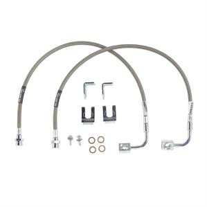 "RUBICON EXPRESS BRAKE LINE SET SS FRONT 20"" TJ/LJ"