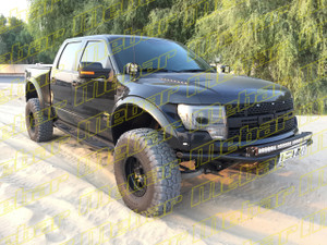 Mebar Ford Raptor [10+] Front Baja Bumper With Skid Plate & Light Mounts