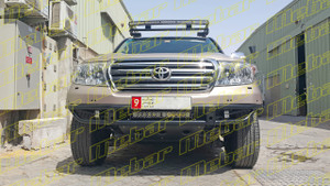 Mebar Toyota LC200 [08+] Front Baja Bumper With Light Mount