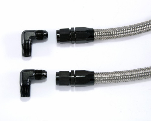 Upgraded Black Nylon or Stainless Steel Braided Hoses