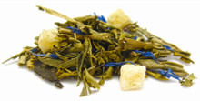 Lush and fresh green tea is combined with pineapple and papaya to create a transcendent experience, one that evokes images of tropical landscapes and warm temperatures. Enjoy this as a respite from your busy life. Naturally low in caffeine and good for multiple infusions.