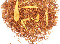 """Rooibos, colloquially known as Red Tea, is an herbal plant that grows in South Africa. Rooibos is a flavorful alternative to tea for those seeking to minimize caffeine intake. Our """"Rooibos Peach"""" is a top-grade organic version, flavored with ripe summer peaches."""