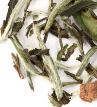 Premium white tea from Fujian region of China infused with the taste of ripe pears. Warm and sugary aroma, like a freshly baked pear, with a pear skin crisp finish. Wonderfully smooth and rounded, perfect hot or iced.   Steep at 180° for 3-5 minutes.