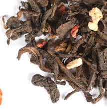 The earthy smoothness of Pu Erh creates a warm foundation for the rich flavor of hazelnut while playful, tangy-sweet strawberries peek through the nutty opulence. A hint of cream adds a soft, dreamy note to the blend.   Steep at 212° for 5 minutes.