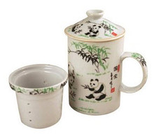 Exquisite Porcelain Tea / Coffee Cup W. Filter