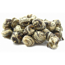 Jasmine tea is a wonderful way to bring a little summertime to any time of year. This type is a limited production of the highest grade. Long leaf tips are infused with freshly cut jasmine blossoms, and then rolled into small pearls. The pearls slowly unfurl as they steep into a light and sweet cup. Good for multiple infusions.