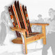 The Classic Redwood Adirondack Ski Chair