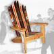 The Classic Redwood Adirondack Ski Chair