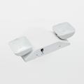 Howard HL0202SW Adjustable Optics Thermoplastic Emergency Light Fixture
