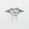 "Satco 80-1813 Metal Plate Halogen Socket with 8"" Leads"