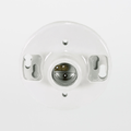 "Satco 90-2638 Porcelain Medium Base Ceiling Receptacle with 7"" Leads"